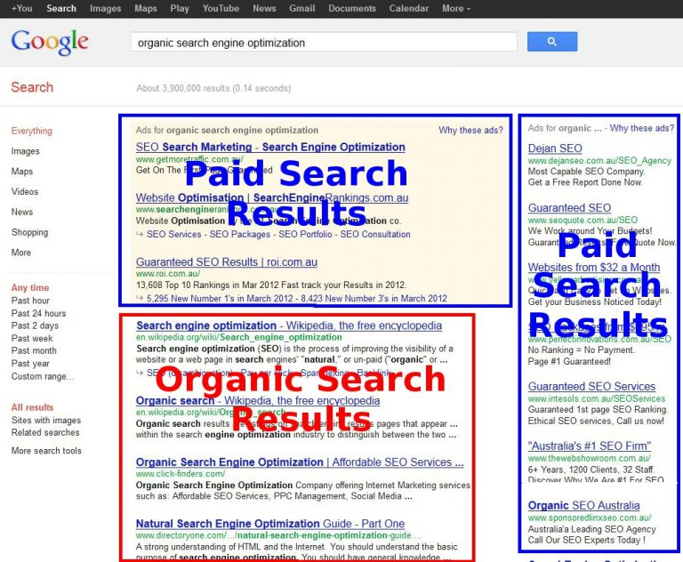 online search engine results