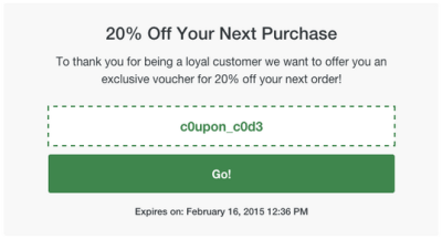 Post-purchase-coupons