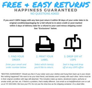 free and easy returns